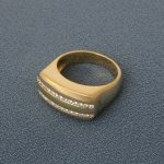 mens diamond gold ring